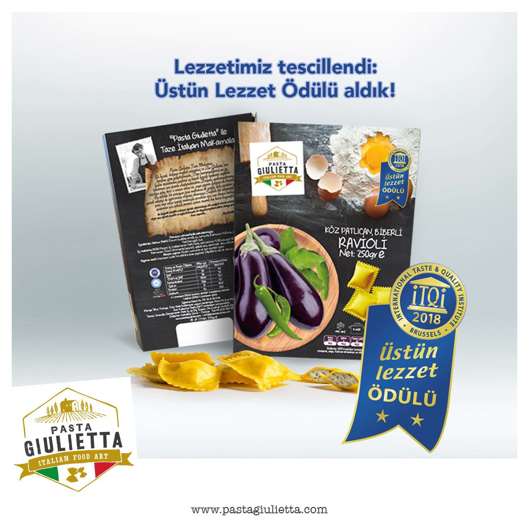 PASTA GIULIETTA honered by ITQI with 2 GOLD STAR.